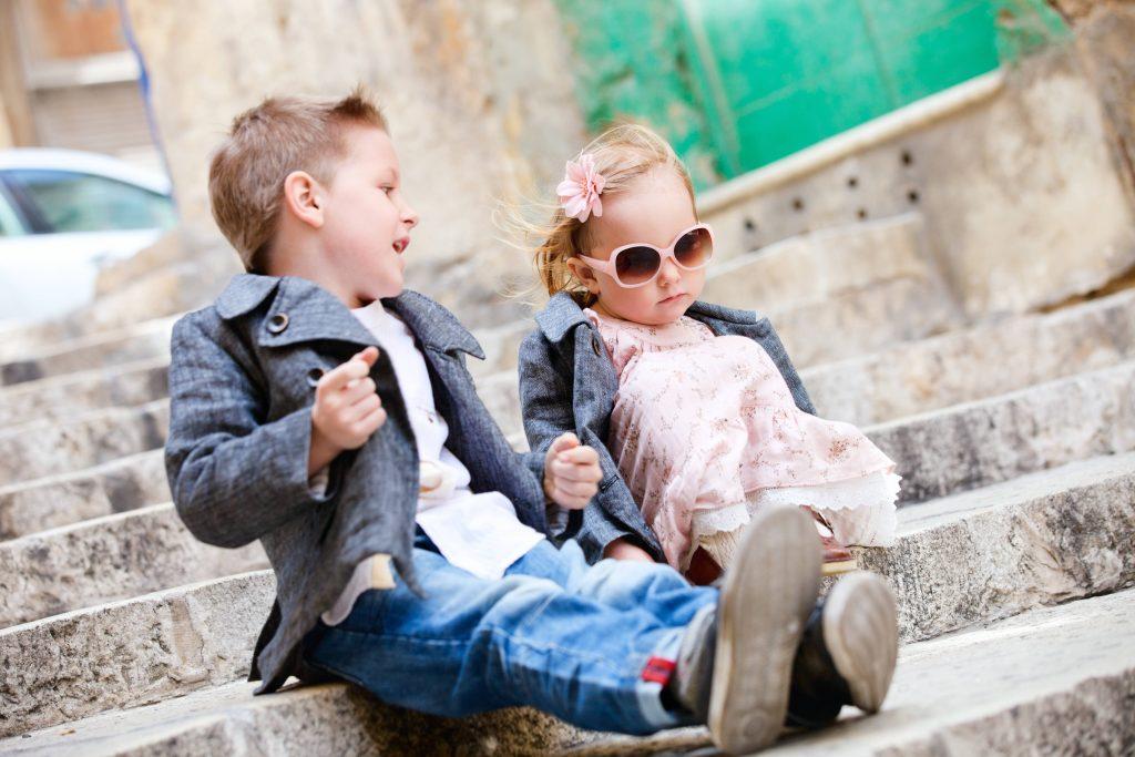 Los niños visten como niños